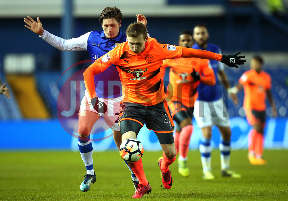 Jon Dadi Bodvarsson of Reading goes past Adam Reach of Sheffield Wednesday - Mandatory by-line: Robbie Stephenson/JMP - 26/01/2018 - FOOTBALL - Hillsborough - Sheffield, England - Sheffield Wednesday v Reading - Emirates FA Cup fourth round proper