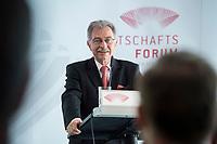 13 JUN 2017, BERLIN/GERMANY:<br /> Prof. Dieter Kempf, Praesident Bundesverband der Deutschen Industrie e.V., BDI, haelt eine Rede, Jahreskonferenz, Wirtschaftsforum der SPD, Humboldt-Box<br /> IMAGE: 20170613-01-240