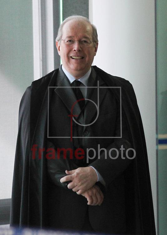Brasilia, 13/11/2013. Ministro Celso de Melo durante sessao do julgamento do caso do mensalao. Foto: Joel Rodrigues/FRAME