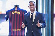 Barcelona sign Brazilian midfielder Arthur Melo 12 july 2018