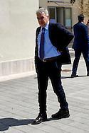 Roma, 10 Aprile  2015<br /> Primo giorno, per il sindaco di Roma Ignazio Marino, da presidente ad interim del Municipio di Ostia, rimasto senza guida, dopo le dimissioni del presidente Tassone per l'inchiesta Mafia Capitale. Nella foto: Alfonso Sabella, Assessore alla legalità del Comune di Roma con delega sul litorale di Ostia.<br /> Rome, April 10, 2015<br /> First day, for the mayor of Rome Ignazio Marino, as interim president of the Municipality of Ostia, left without guidance, after the resignation of President Tassone for inquiry Mafia Capital.. Pictured: Alfonso Sabella, Councillor legality of the City of Rome with the delegation on the coast of Ostia.