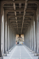 pont de bir hakeim in Paris France in Spring time of May 2008