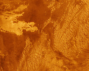 This false color Magellan image shows a portion of Eistla Regio (region) in the northern hemisphere of Venus.