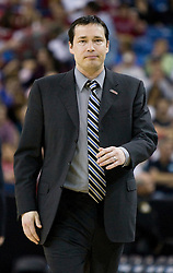 March 27, 2010; Sacramento, CA, USA; Xavier Musketeers head coach Kevin McGuff before the game against the Gonzaga Bulldogs in the semifinals of the Sacramental regional in the 2010 NCAA womens basketball tournament at ARCO Arena.  Xavier defeated Gonzaga 74-56.