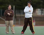 Rowan University  Women's Lacrosse Assistant Coaches Tori Hart and Sarah Pierce.