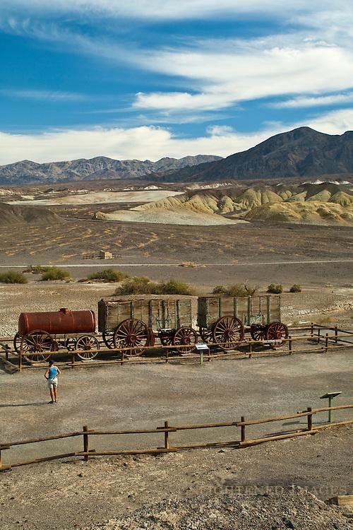 Twenty Mule Team wagons, Harmony Borax Works, Death Valley National Park, California