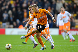 Wolves Midfielder Jamie O'Hara (ENG) passes during the first half of the match - Photo mandatory by-line: Rogan Thomson/JMP - Tel: Mobile: 07966 386802 26/01/2013 - SPORT - FOOTBALL - Molineux Stadium - Wolverhampton. Wolverhampton Wonderers v Blackpool - npower Championship.