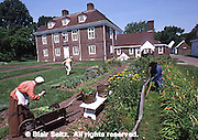 Pennsbury Manor, Delaware River, Philadelphia, Pennsylvania, Wm Penn home English garden,