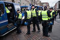 Protest in Copenhagen during the COP15 climate change summit, Denmark,14 December, 2009.