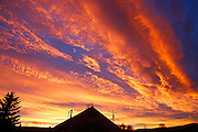 Byron Hetzler/Sky-Hi News.Sunrise on Sunday filled the sky over Granby with an incredible display of color.