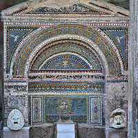 House of the Large Fountain in Pompeii, Italy<br />