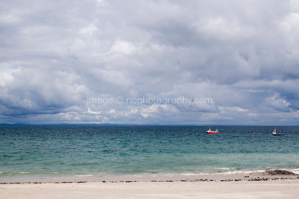 Beach on Inis Oirr the Aran Islands Galway Ireland
