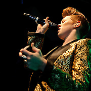 "WASHINGTON, D.C. - November 11th, 2010:  English pop sensations La Roux finally play the 9:30 Club after previously postponing the date three times. The band is currently riding high on the US chart success of their single ""Bulletproof."" (Photo by Kyle Gustafson/For The Washington Post)"