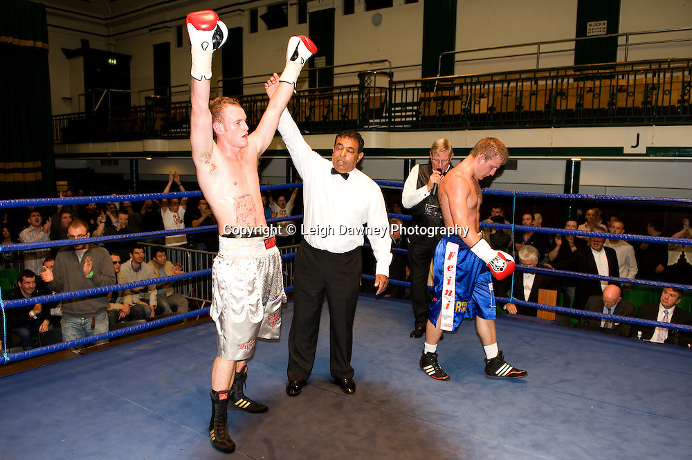 George Groves defeats Martins Kukulis at York Hall 4th October 2009. Promoted by David Coldwell,Hayemaker Promotions Credit: ©Leigh Dawney Photography