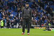 Liverpool manager Jurgen Klopp warm up during the Premier League match between Brighton and Hove Albion and Liverpool at the American Express Community Stadium, Brighton and Hove, England on 12 January 2019.