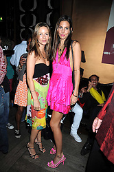 Left to right, sisters JESSICA SIMON and ZARA SIMON at Maria Castani's birthday party held at Sketch, 9 Conduit St, London on 14th July 2008.<br /> <br /> NON EXCLUSIVE - WORLD RIGHTS