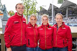 ROTHENBERGER Soenke (GER), SCHNEIDER Dorothee (GER), VON BREDOW-WERNDL Jessica (GER), WERTH Isabell (GER)<br /> Rotterdam - Europameisterschaft Dressur, Springen und Para-Dressur 2019<br /> Team Deutschland<br /> Gruppenbild<br /> 19. August 2019<br /> © www.sportfotos-lafrentz.de/