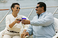 Couple Toasting on Boat