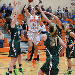 Staff photos by Tom Kelly IV<br /> Marple Newtown's Rylee Power (10) goes up for a layup during the Bishop Shanahan at Marple Newtown girls basketball game, during the 7th annual holiday tournament on Saturday, December 27, 2014.
