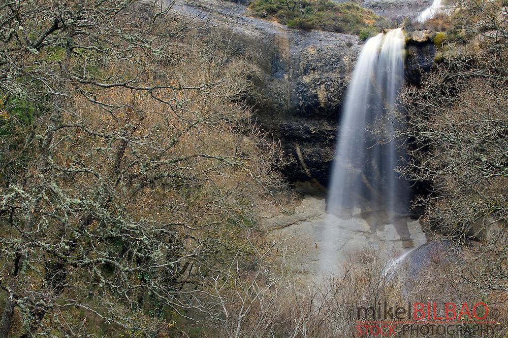 La Mea waterfall. <br /> Quintanilla Valdebodres, Sotocueva.<br /> Las Merindades County, Burgos, Castile and Leon, Spain, Europe