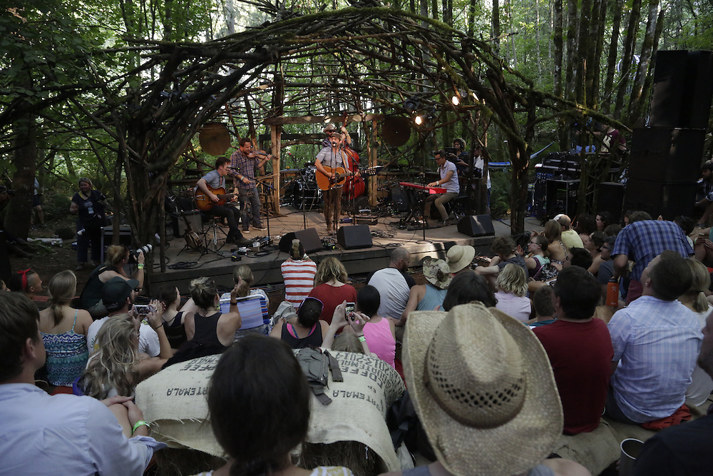 Gregory Alan Isakov performs on the Woods Stage at Pickathon in Portland, Ore. on Friday, August 1, 2014. (Photo by Jason Redmond)
