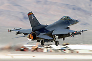 F-16C afterburner takeoff at Nellis AFB NV