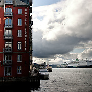 Three weeks aboard the Kong Harald. Hurtigruten, the Coastal Express. Bergen. House in Bergen.