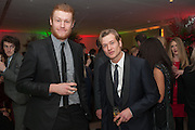 MATT MILNE; ED SPELEERS, English National Ballet's celebrates their Christmas season at the London Coliseum,  St Martins Lane hotel. London. 13 December 2012.