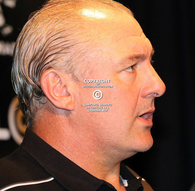 DURBAN, SOUTH AFRICA - FEBRUARY 26: Gary Gold (Sharks Director of Rugby) during the Cell C Sharks training session and press conference at Growthpoint Kings Park on February 26, 2015 in Durban, South Africa. (Photo by Steve Haag)