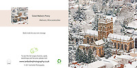 Great Malvern Priory in Snow Square Greeting Card with Peel and Seal White Envelope