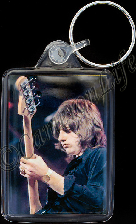 Greg Lake - Key Fob with image approx. 35mm x 50mm from 1970 Isle of Wight Music Festival exhibition on the front. The reverse has an exclusive CameronLife  1970 IW festival design