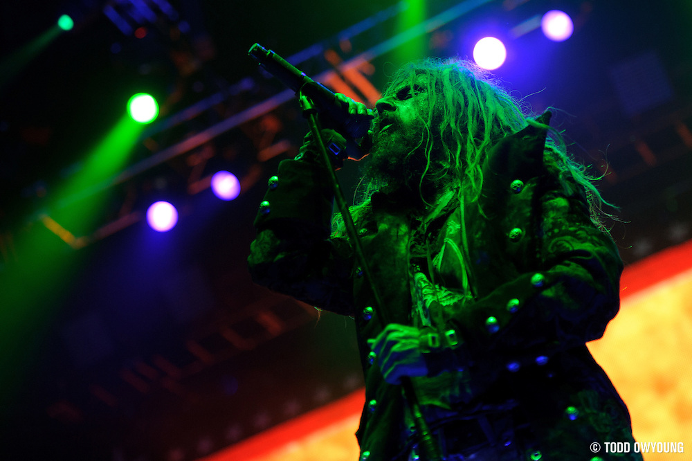 Rob Zombie performing at Mayhem Fest 2010 on July 20 at Verizon Wireless Amphitheater in St. Louis