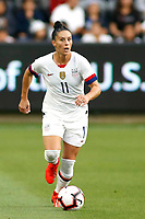 LOS ANGELES, CALIFORNIA - APRIL 07:   Ali Krieger #11 of United States Women's National Team takes the ball down the field during a game against the Belgian Women's National Team at Banc of California Stadium on April 07, 2019 in Los Angeles, California. (Photo by Katharine Lotze/Getty Images)