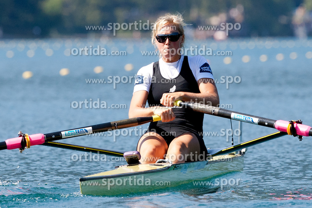 Emma Twigg of New Zealand during Women's Single Sculls at Rowing World Championships Bled 2011 on September 3, 2011, in Bled, Slovenia. (Photo by Matic Klansek Velej / Sportida)
