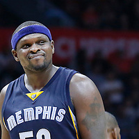 09 November 2015: Memphis Grizzlies forward Zach Randolph (50) is seen during the Los Angeles Clippers 94-92 victory over the Memphis Grizzlies, at the Staples Center, in Los Angeles, California, USA.