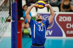 20170524 NED: 2018 FIVB Volleyball World Championship qualification, Koog aan de Zaan<br />Marin Lescov (10) of Republic of Moldova <br />©2017-FotoHoogendoorn.nl / Pim Waslander