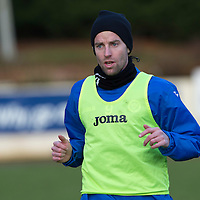 St Johnstone Training....30.12.14<br /> Striker Steven MacLean pictured in training this morning ahead of the New Years Day game at Aberdeen.<br /> Picture by Graeme Hart.<br /> Copyright Perthshire Picture Agency<br /> Tel: 01738 623350  Mobile: 07990 594431