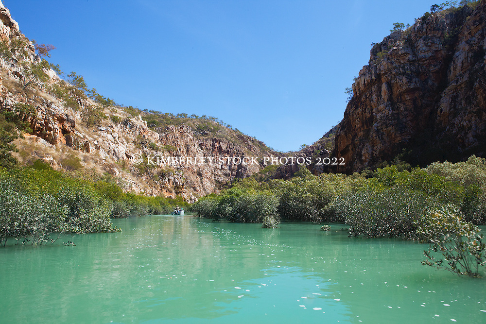 A remote gorge in Dugong Bay on the Kimberley coast.
