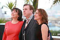 Actress Marion Bailey, actor Timothy Spall and actress Dorothy Atkinson at the photocall for the film Mr. Turner at the 67th Cannes Film Festival, Thursday 15th May 2014, Cannes, France.