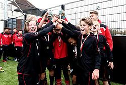 The winning team lift the BCCT EFL Kids Cup trophy  - Mandatory by-line: Robbie Stephenson/JMP - 23/11/2016 - FOOTBALL - South Bristol Sports Centre - Bristol, England - BCCT EFL Kids Cup