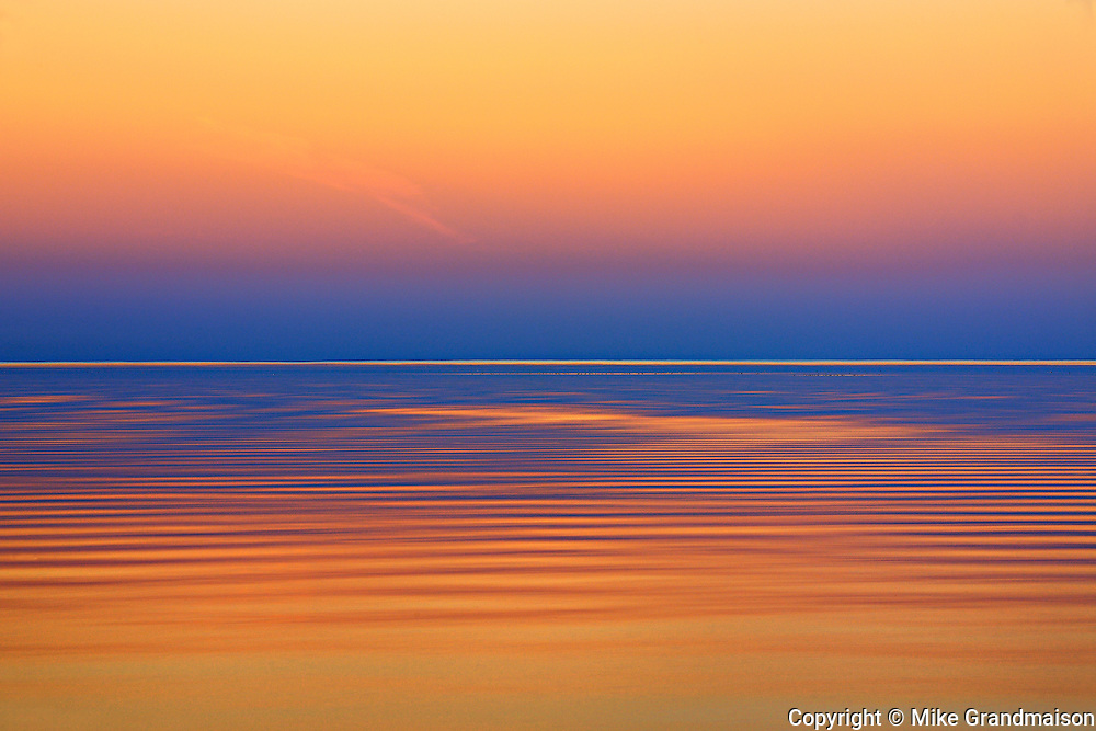 Lake Winnipeg after a sunset.<br /> Matlock<br /> Manitoba<br /> Canada