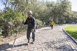 January 11, 2018 - Montecito, California, U.S - DAN PERKINS of the Fresno Fire Department and MATT WINN of the Clovis Fire Department perform Search and Rescue Missions Thursday afternoon after a deadly mudslide hit the area early Tuesday. (Credit Image: © Erick Madrid via ZUMA Wire)