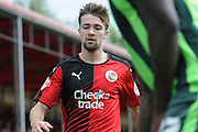 Gwion Edwards watching the ball during the Sky Bet League 2 match between Crawley Town and AFC Wimbledon at the Checkatrade.com Stadium, Crawley, England on 15 August 2015. Photo by Michael Hulf.