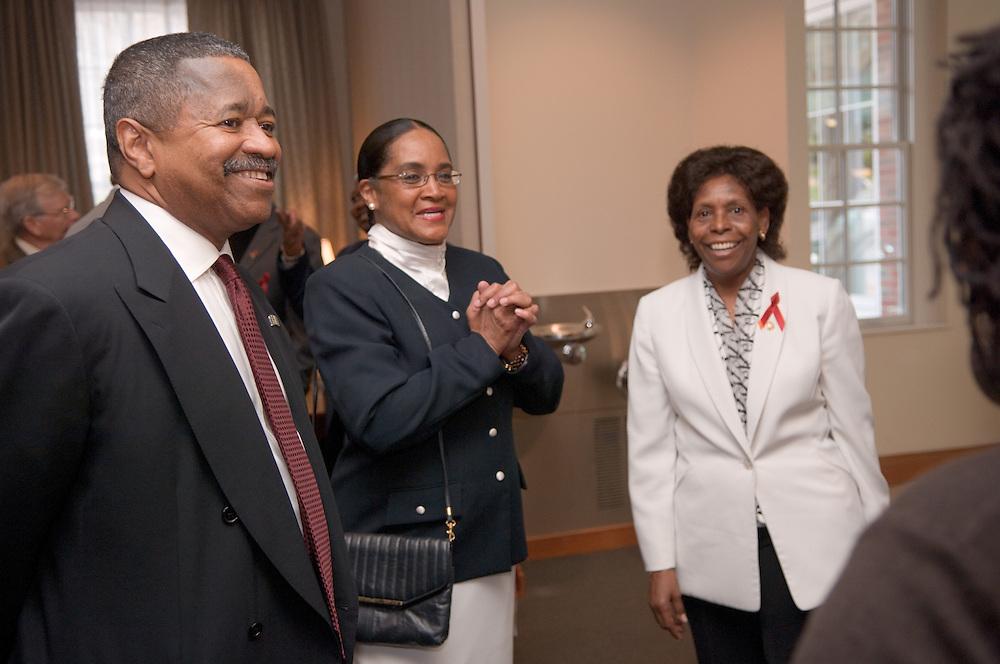 Mrs. McDavis, President McDavis & Beatrice Selotlegeng(left)