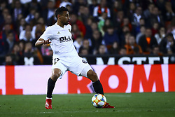 February 28, 2019 - Valencia, Spain - Francis Coquelin of Valencia CF During Spanish King La Copa match between  Valencia cf vs Real Betis Balompie Second leg  at Mestalla Stadium on February 28, 2019. (Photo by Jose Miguel Fernandez/NurPhoto) (Credit Image: © Jose Miguel Fernandez/NurPhoto via ZUMA Press)