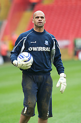LONDON, ENGLAND - Saturday, March 5, 2011: Tranmere Rovers' Tony Warner during the warm up before the Football League One match at The Valley. (Photo by Gareth Davies/Propaganda)