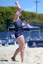 April 7, 2018 - Tucson, AZ, U.S. - TUCSON, AZ - APRIL 07: Arizona Wildcats defender Makenna Martin (2) celebrates during a college beach volleyball match between the California Golden Bears and the Arizona Wildcats on April 07, 2018, at Bear Down Beach in Tucson, AZ. Arizona defeated California 3-2. (Photo by Jacob Snow/Icon Sportswire (Credit Image: © Jacob Snow/Icon SMI via ZUMA Press)