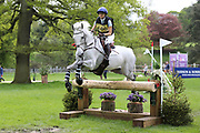 Goose Leigh on Lancelot 359 during the International Horse Trials at Chatsworth, Bakewell, United Kingdom on 12 May 2018. Picture by George Franks.