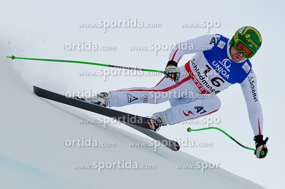07.02.2013, Planai, Schladming, AUT, FIS Weltmeisterschaften Ski Alpin, Abfahrt, Herren, 1. Training, im Bild Klaus Kroell (AUT) // Klaus Kroell of Austria in action during 1st practice of Mens Downhill at the FIS Ski World Championships 2013 at the Planai Course, Schladming, Austria on 2013/02/07. EXPA Pictures © 2013, PhotoCredit: EXPA/ Sandro Zangrando