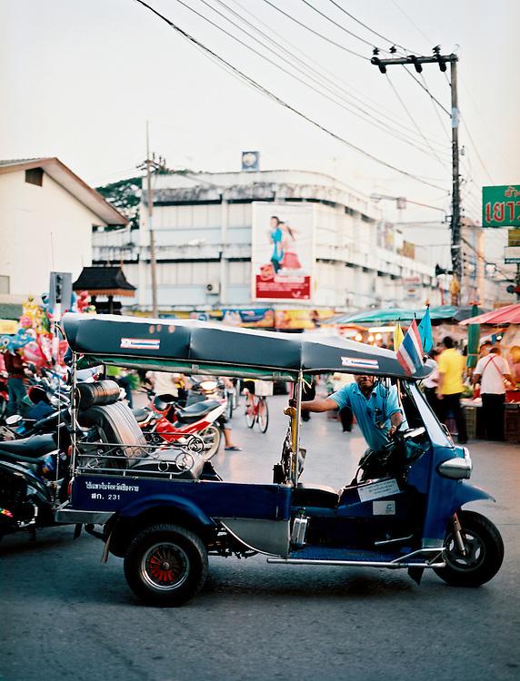 Tuk-tuk at the night market